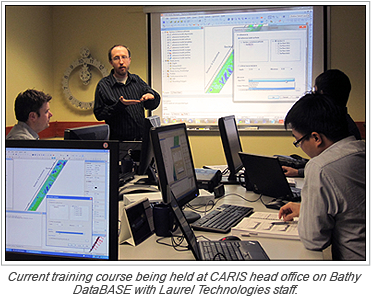 Current training course being held at CARIS head office on Bathy DataBASE with Laurel Technologies staff.