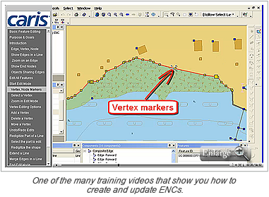One of the many training videos that show you how to create and update ENCs.