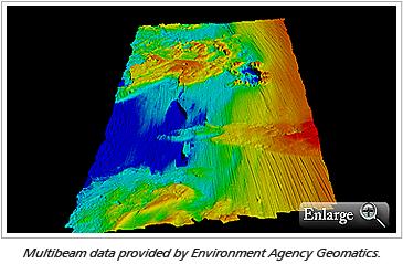 Multibeam data provided by Environment Agency Geomatics.