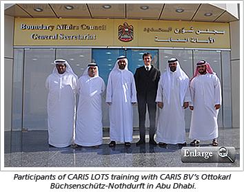 Participants of CARIS LOTS training with CARIS BV's Ottokarl Büchsenschütz-Nothdurft in Abu Dhabi.