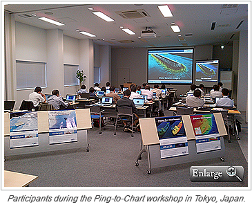Participants during the Ping-to-Chart workshop in Tokyo, Japan.