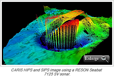 CARIS HIPS and SIPS image using a RESON Seabat 7125 SV sonar
