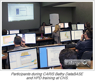 Participants during CARIS Bathy DataBASE and HPD training at CHS.