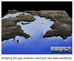 Bridging the gap between land and sea data workshop.