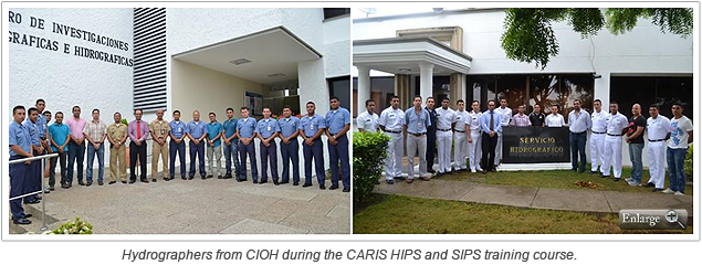 Hydrographers from CIOH during the CARIS HIPS and SIPS training course.