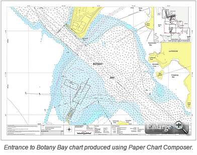 Entrance to Botany Bay chart produced using Paper Chart Composer.