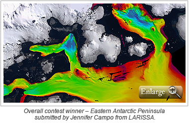 Overall contest winner – Eastern Antarctic Peninsula submitted by Jennifer Campo from LARISSA