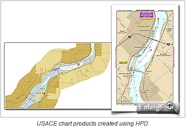 USACE chart products created using HPD.