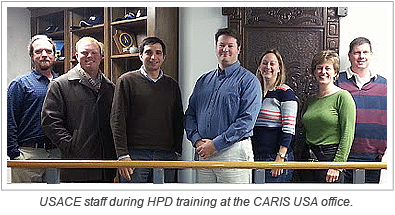 USACE staff during HPD training at the CARIS USA office.