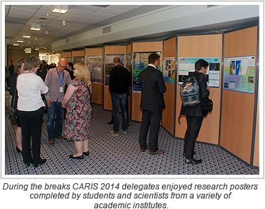During the breaks CARIS 2014 delegates enjoyed research posters completed by students and scientists from a variety of academic institutes.