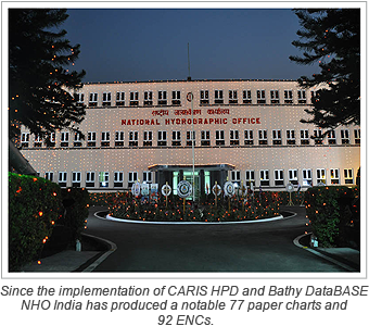 Since the implementation of CARIS HPD and Bathy DataBASE NHO India has produced a notable 77 paper charts and 92 ENCs.