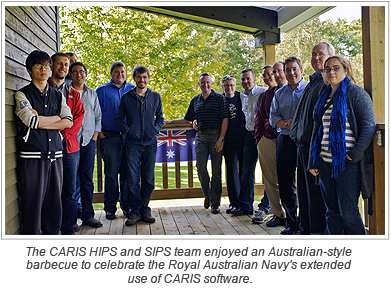 The CARIS HIPS and SIPS team enjoyed an Australian-style barbecue to celebrate the Royal Australian Navy's extended use of CARIS software.