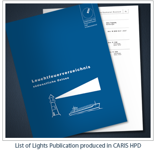 List of Lights Publication produced in CARIS HPD