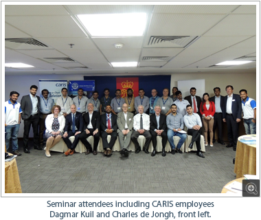 Seminar attendees including CARIS employees Dagmar Kuil and Charles de Jongh, front left