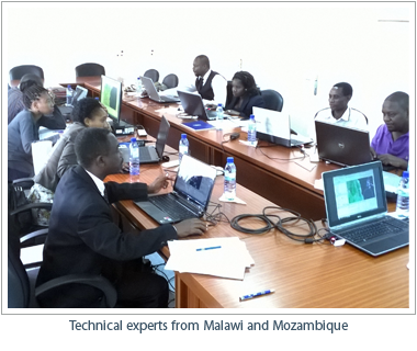 Technical experts from Malawi and Mozambique
