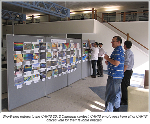 Shortlisted entries to the CARIS 2012 Calendar contest. CARIS employees from all of CARIS' offices vote for their favorite images.