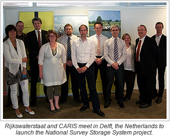 Rijkswaterstaat and CARIS meet in Delft, the Netherlands to launch the National Survey Storage System project.
