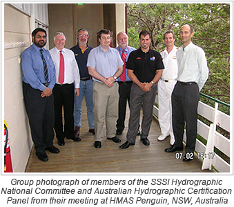 Group photograph of members of the SSSI Hydrographic National Committee and Australian Hydrographic Certification Panel from their meeting at HMAS Penguin, NSW, Australia