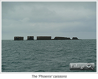 The 'Phoenix' caissons