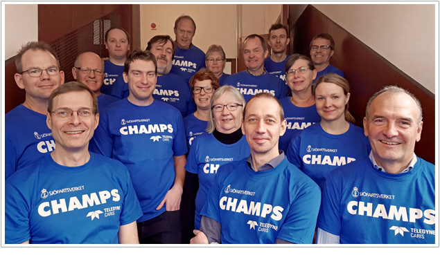 Members of the Swedish Maritime Administration (SMA) 'CHAMPS' project